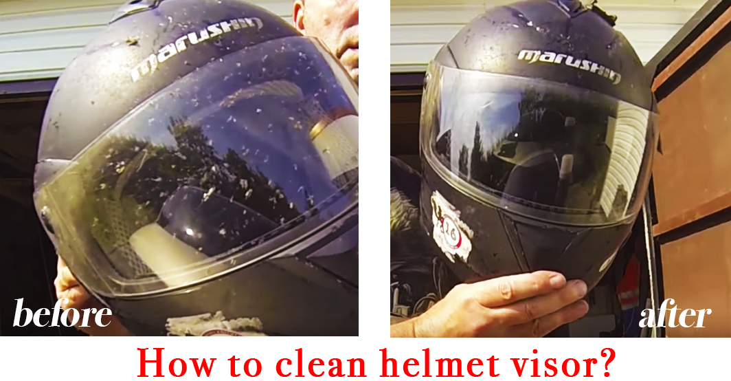 How to clean helmet visor