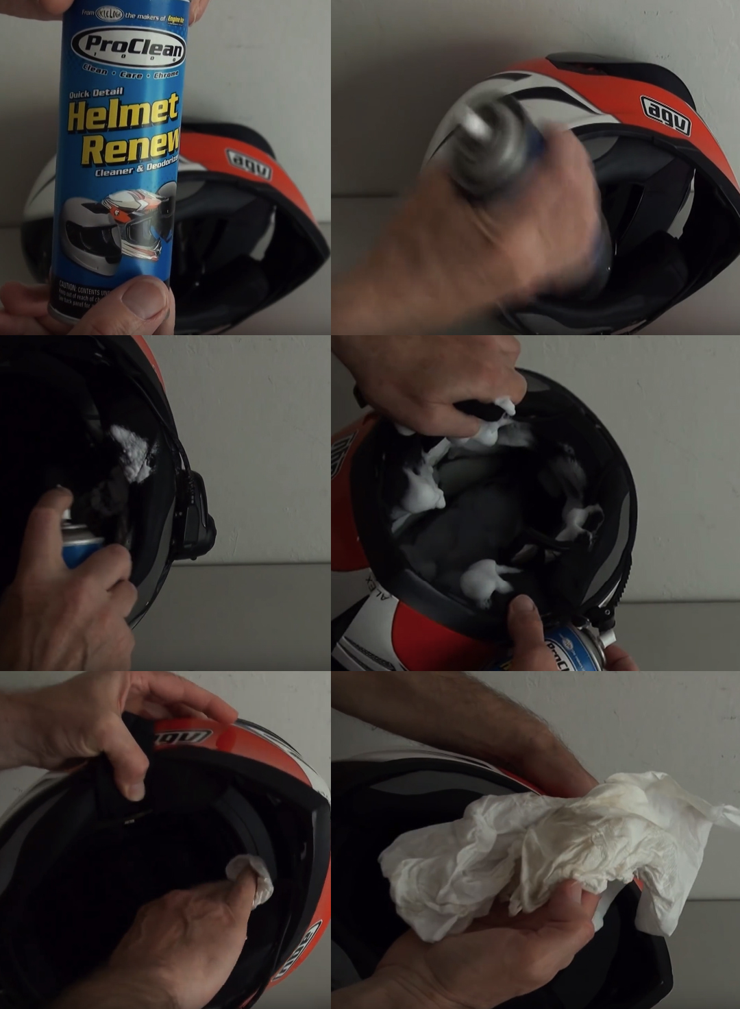how to clean bike helmet