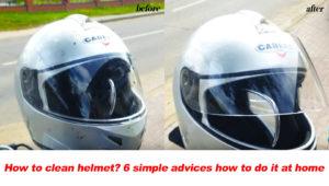how to clean helmet