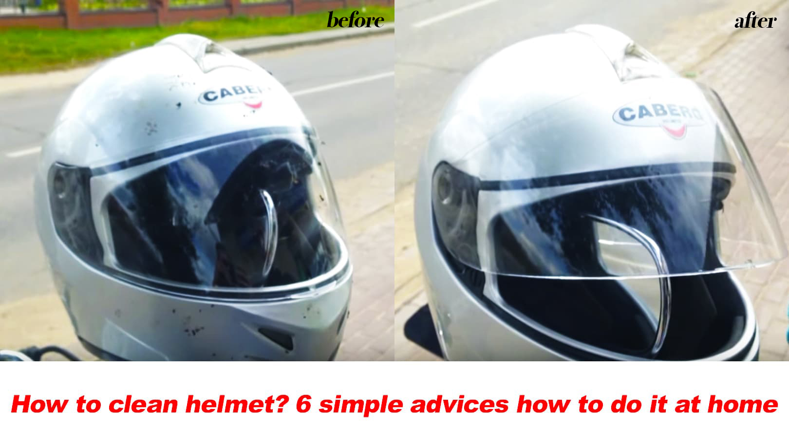 how to clean helmet