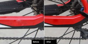how to remove scratches from bike