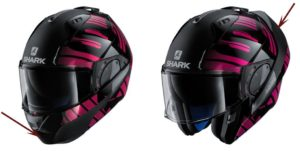 modular helmet shark